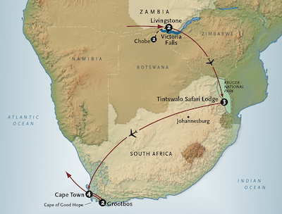 Map of south africa masala expeditions tours