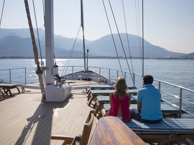 Sun deck M/S Panorama relax ship boat sail Cuba sailing
