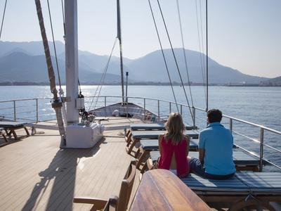 Sun deck M/S Panorama relax ship boat sail Dalmatian coast sailing
