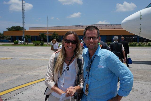 David and Shelley Jose Marti Havana Airport.JPG