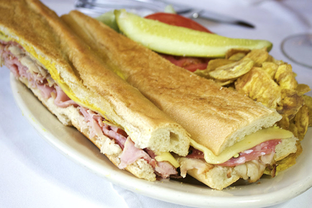 The original Cuban sandwich from Columbia Restaurant