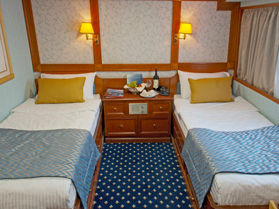 Cabin category A twin beds M/Y Callisto Main Deck Coastal Cuba Cruise ship yacht