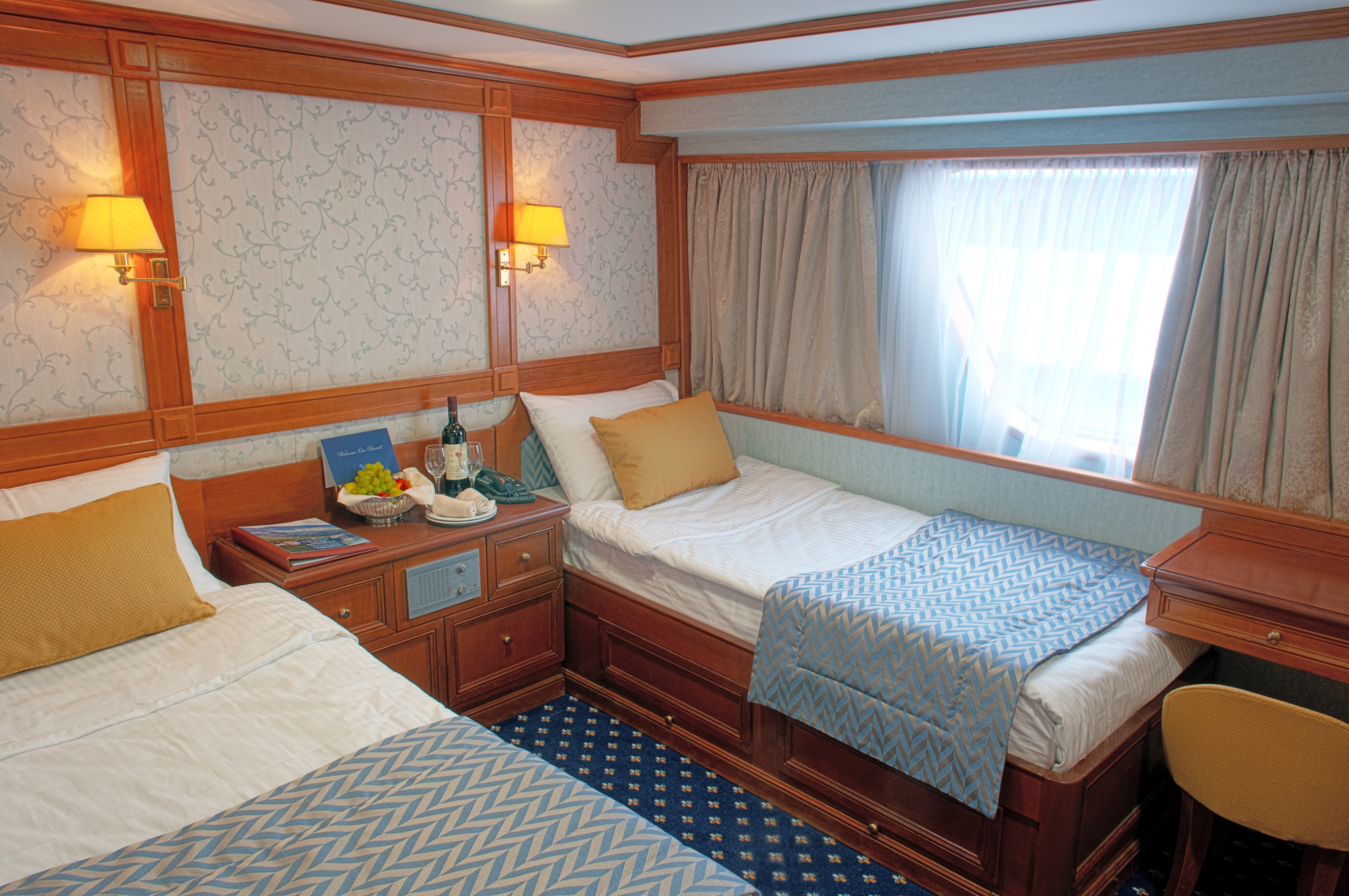 Callisto category P twin bed cabin cruise Cuba yacht