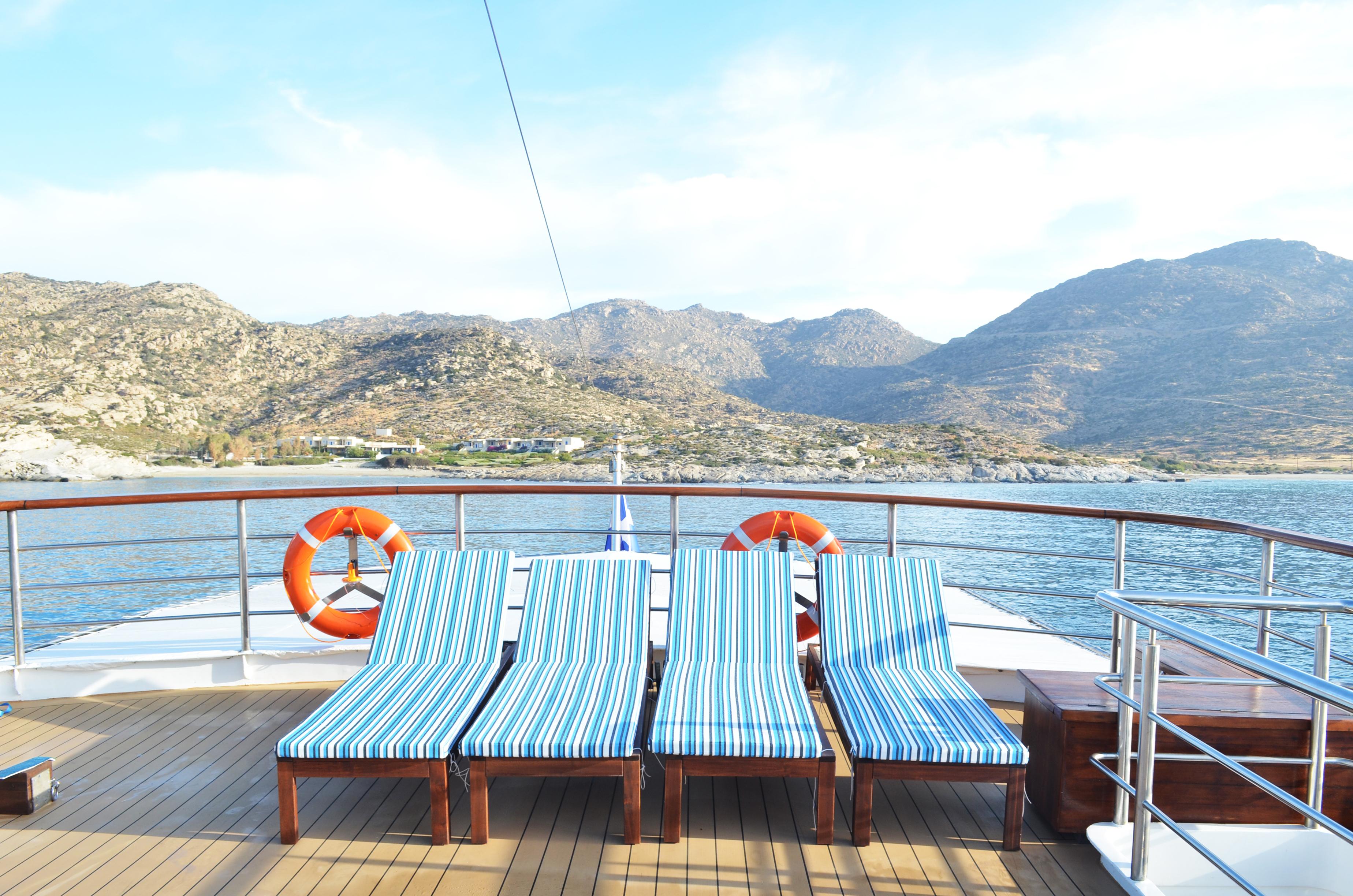 M/Y Callisto sun deck outdoor lounge yacht cruise Cuba ship