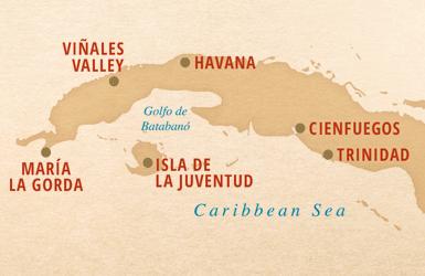 Cienfuegos, Trinidad, Isla de la Juventud, Maria la Gorda, Vinales Valley, Havana