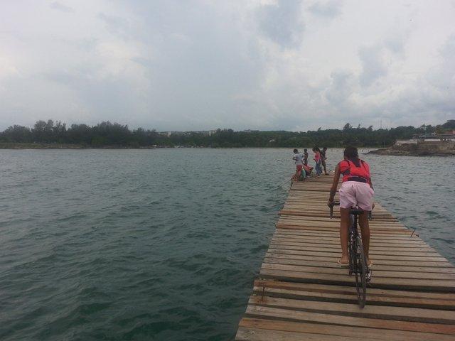 Dock along the coastal Cuban town of Cojimar