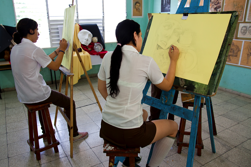 Student Artists in Cuba