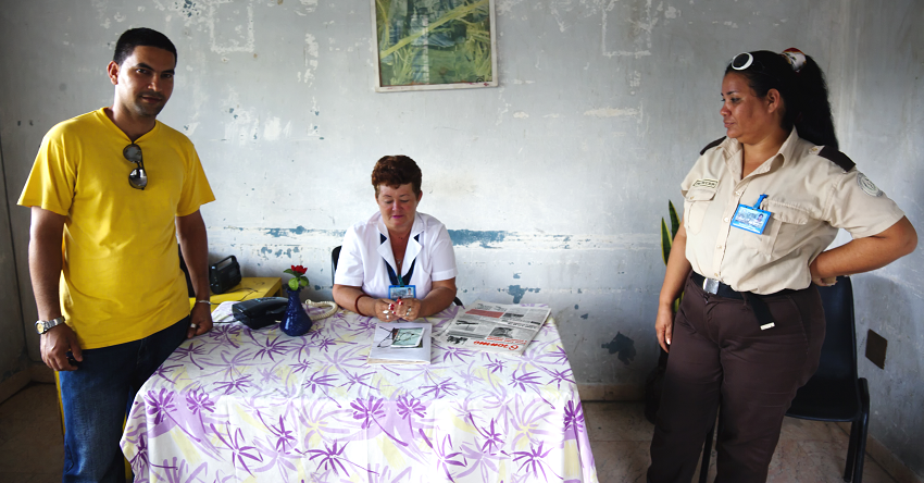 Cuban polyclinic staff