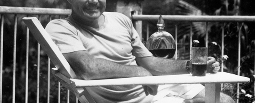 Ernest Hemingway at the Finca Vigia, Cuba 1946