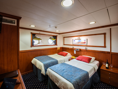 M/S Galileo Cabin Category B two twin beds sail Greece room vacation