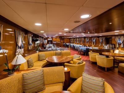Main Deck lounge area M/S Galileo sail Greece relax bar vacation