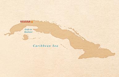 map of cuba including havana