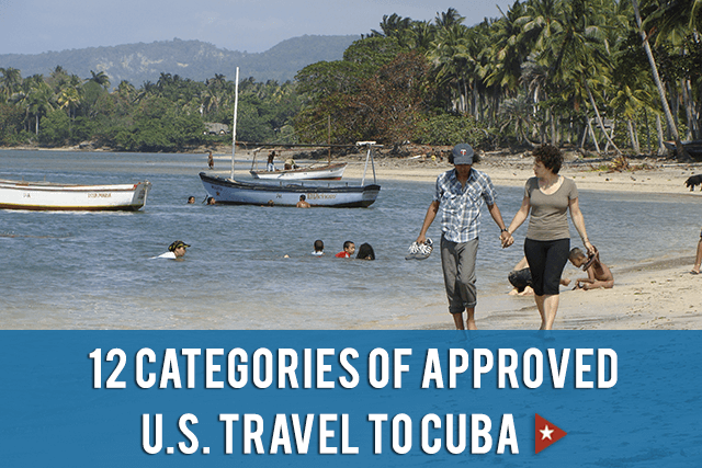 12 categories of approved US travel to Cuba