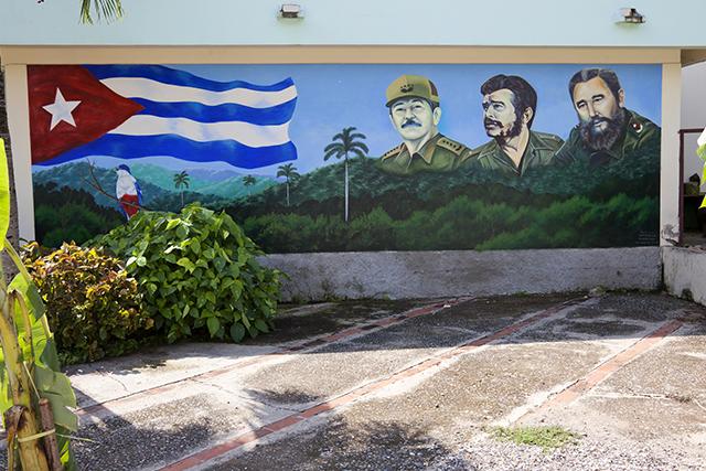 Castro painting in Cuba