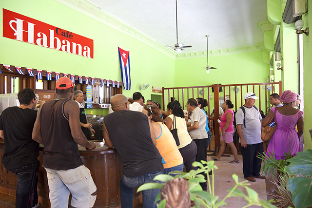 Cafe' Havana in Cuba serving up coffee