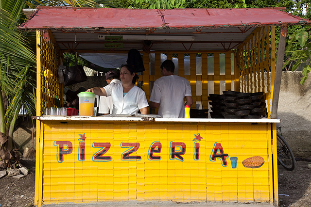 Pizza vendor - Street food in Cuba