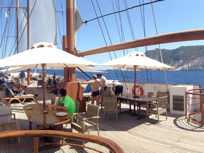 Sundeck M/S Galileo sail greece cruise lounge relax vacation