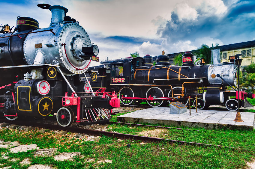 Steam train Cuba