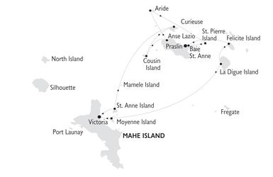 MAP Seychelles Africa island coast