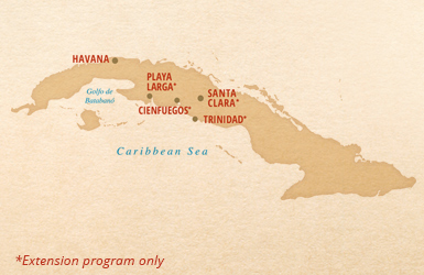 Putumayo Cuba Cuba tour map