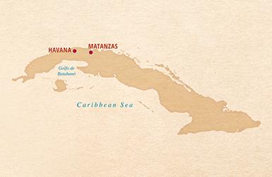 map of cuba, havana. matanzas