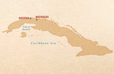 Jazz Festival Map of Havana and Matanzas