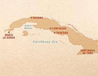 Around Cuba Trinidad Cienfeugos Santiago de Cuba Maria La Gorda Havana