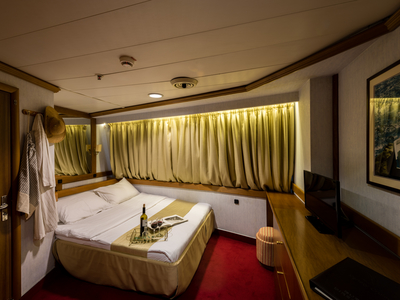 cabin category A double bed room M/S Panorama sail Cuba sailing Caribbean boat ship