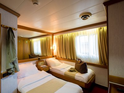 cabin category A twin bed room M/S Panorama sail Cuba sailing Caribbean boat ship
