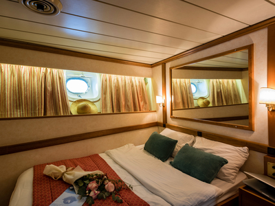 Cabin category C double bed M/S Panorama sail dalmatian coast vacation luxury travel ship boat