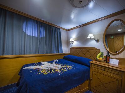 Cabin category C double bed m/s panorama II sail cruise spain portugal luxury vacation travel