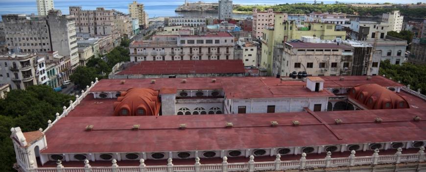 Hotel Sevilla looking down on the National Ballet School, Havana Vieja, Cuba.jpg