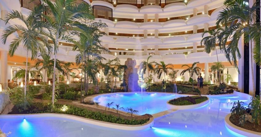Melia Varadero Hotel Lobby Palm Trees Varadero, Cuba