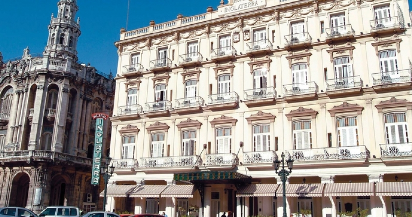 Hotel Inglaterra Havana Cuba old historic hotel outside