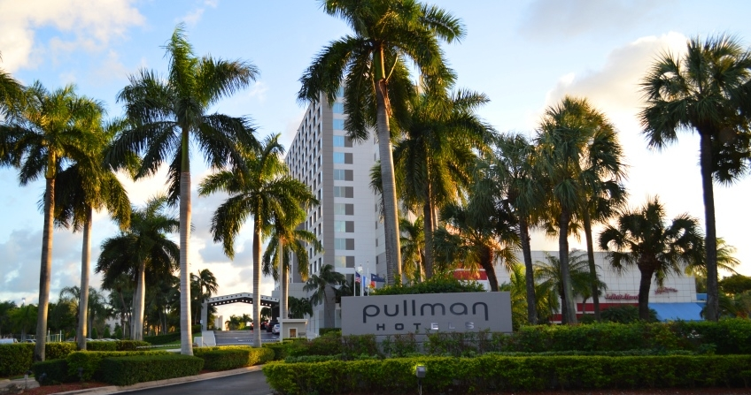 Outside of Pullman Hotel Miami Airport florida