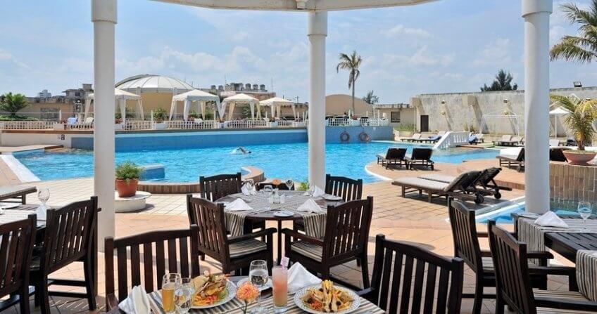 Pool Dining Melia Cohiba havana cuba