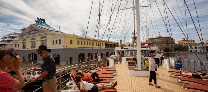 Sun deck on M/S Panorama II