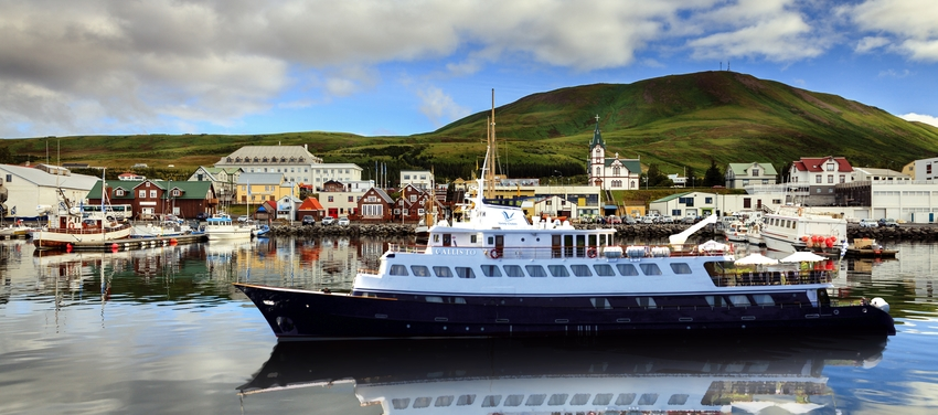 Callisto sailing in Iceland