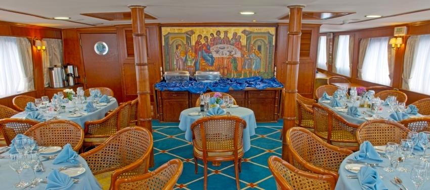 Callisto Indoor Dining Room Yacht Cuba