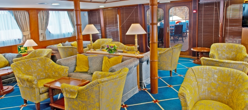 Callisto Mega Yacht Lounge Bar Interior