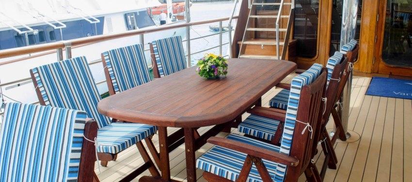 Outdoor Dining Patio Deck Furniture Callisto Mega Yacht