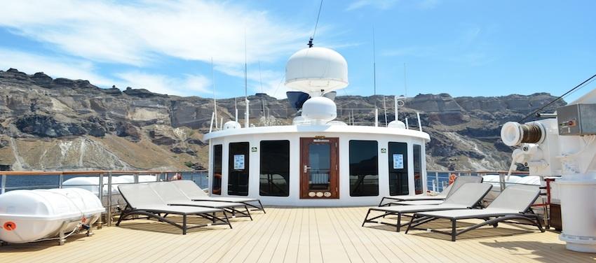 Callisto Sun Deck Library Cuba Cruise Yacht