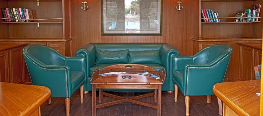 Callisto Mega Yacht Sun Deck Library Interior