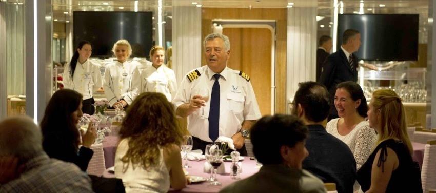 Variety Voyager Captains Dinner Dine Meal Speech