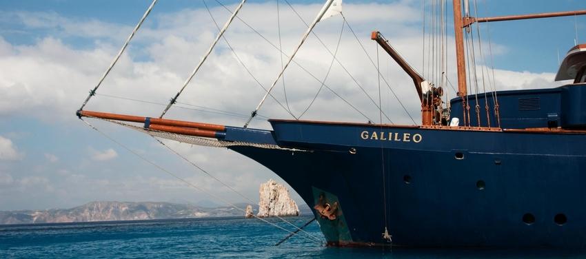 Exterior of the M/S Galileo travel Greece sea ship sail