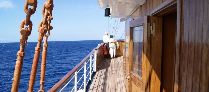 M/S Galileo couple on board travel ship sail Athens Greece