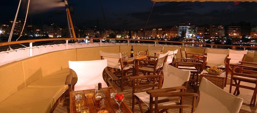 night view deck M/S Galileo ship sail travel vacation