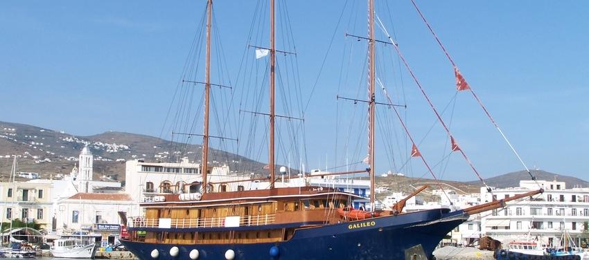 The M/S Galileo sailing Tinos Greece
