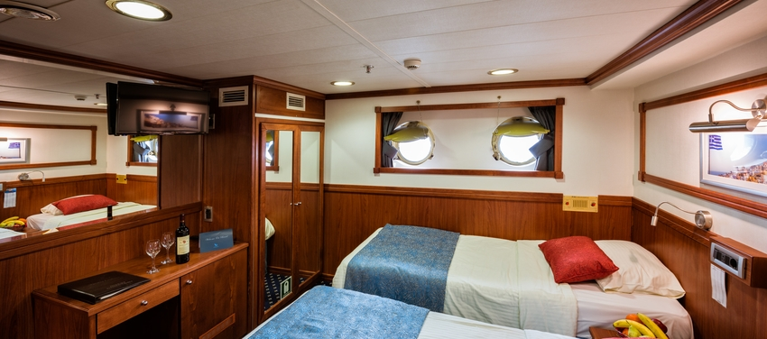 Galileo category b twin bed cabin sail greece tour vacation