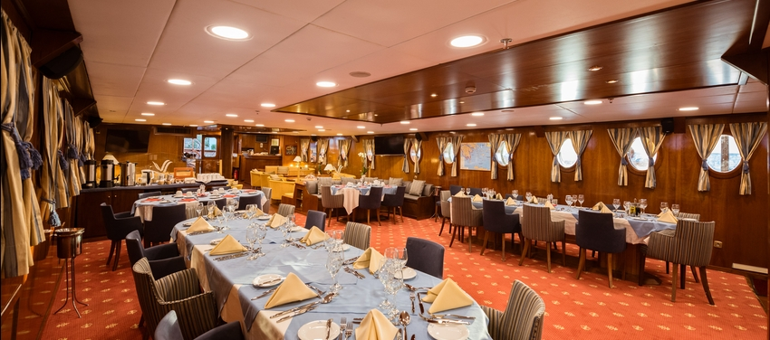 Main dining and lounge M/S Galileo food service sail vacation